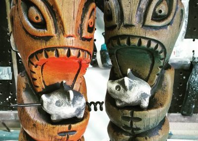 Porco Lounge customer tiki mugs