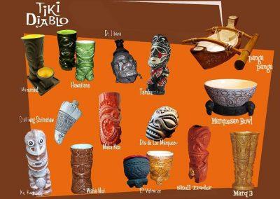 Tiki Diablo Mugs through the years