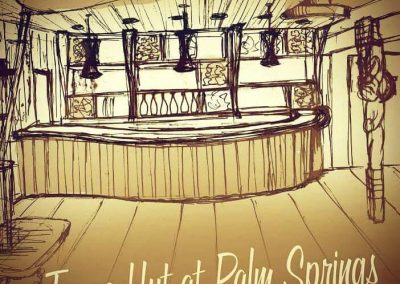 Tiki Interior Design, Sketch - Tonga Hut Palm Springs