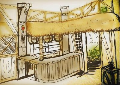Tiki Interior Design, Sketch