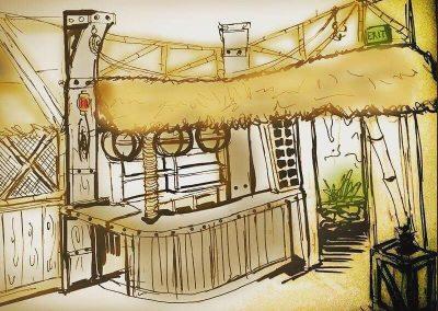 Tiki Interior Design, Sketch