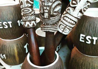 Tiki Ti Coconut Mugs with Custom Muddlers