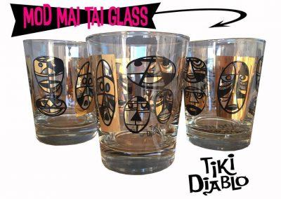 Tiki Diablo Mai Tai Glass